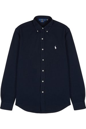 Polo Ralph Lauren Navy piqué cotton shirt