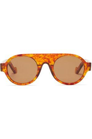 Loewe Aviator Tortoiseshell-acetate Sunglasses - Mens - Tortoiseshell