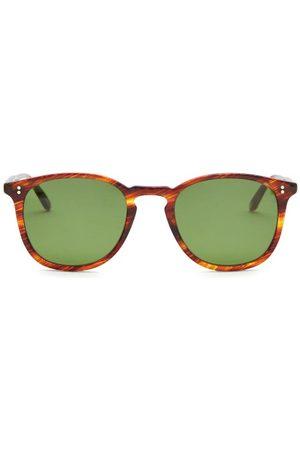 GARRETT LEIGHT Kinney Round Tortoiseshell-acetate Sunglasses - Mens - Tortoiseshell