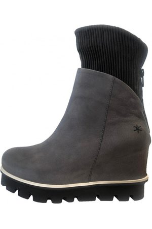 Patrizia Bonfanti Women's Jun Wedge Ankle Boots in Grey and Brown