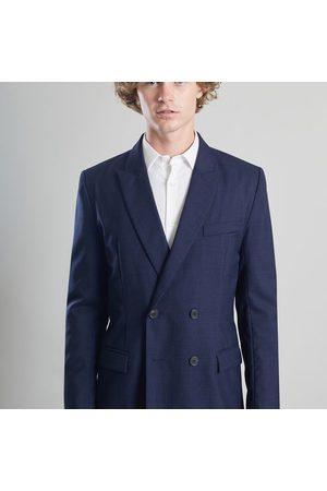 L'Exception Paris Double Breasted Suit Jacket Vitale Barberis Navy