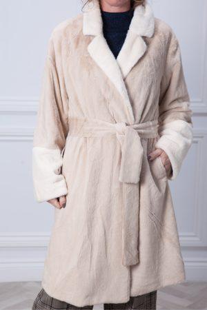 Derhy Saloon Belted Furry Coat
