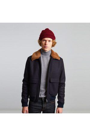 L'Exception Paris Virgin wool aviator jacket Marine
