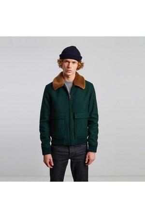 L'Exception Paris Virgin wool aviator jacket Vert