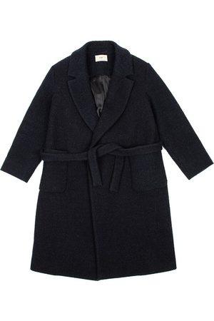 FOLK CLOTHING FOLK Robe Twill Coat BRUSHED NAVY Made in Portugal
