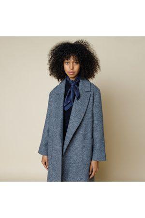 FOLK CLOTHING FOLK Robe Twill Coat BLUE MELANGE Made in Portugal