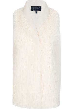 Armani Armani Jeans Womens Faux Fur Waistcoat