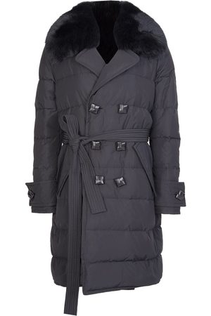 Dsquared2 Womens Fur Collar Trench Coat