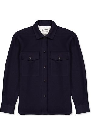 Outland Army Wool Overshirt NAVY Handcrafted in Portugal