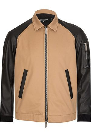 Dsquared2 Dsquared Leather Mix Jacket