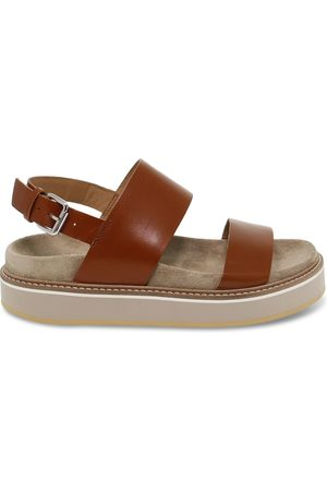 Janet Sport WOMEN'S JSPO45754BROWN LEATHER SANDALS