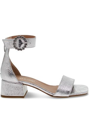 Janet&Janet WOMEN'S JANET45200SILVER LEATHER SANDALS