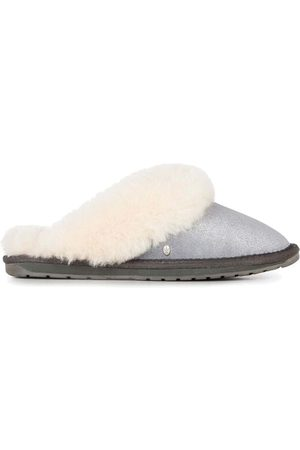 Emu EMU Jolie Metallic Sheepskin Slippers - Charcoal