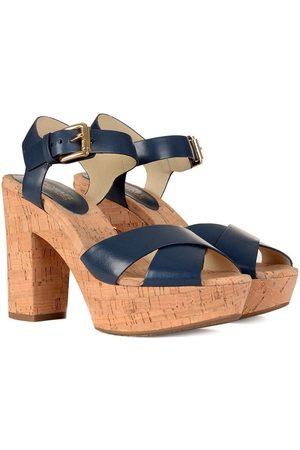 Michael Kors Natalia Platform Navy Strap Sandal