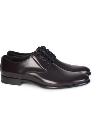 Dolce & Gabbana Leather Derby Shoes Black