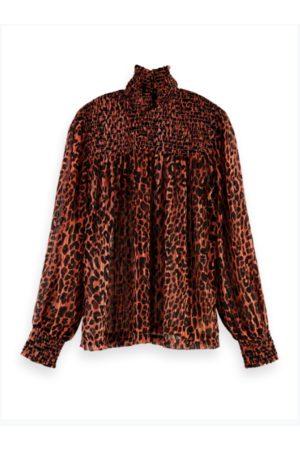 Scotch&Soda Leopard Print Chiffon Blouse