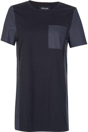 Armani Women T-shirts - Armani Women's Contrasting Pocket + Panels T-Shirt Navy
