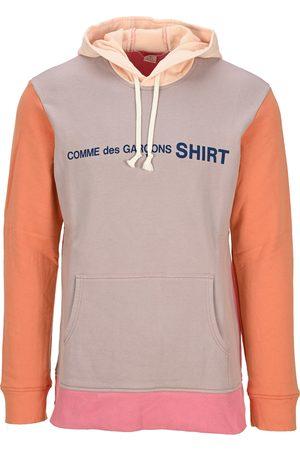 Comme des Garçons Color block logo hoodie