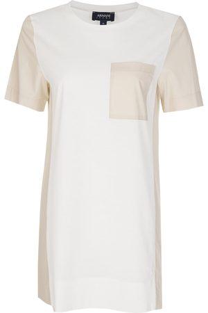 Armani Armani Women's Contrasting Pocket + Panels T-Shirt