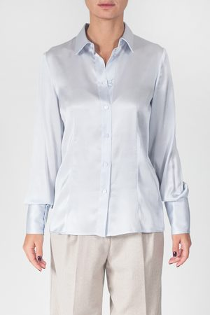 Blubianco Camicia in raso