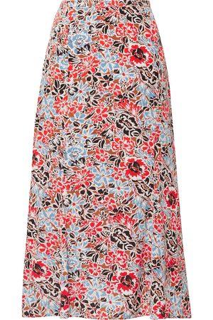 VERONICA BEARD Woman Diane Floral-print Silk-blend Crepe De Chine Midi Skirt Size 0