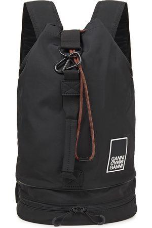 Ganni Woman Appliquéd Shell Backpack Size