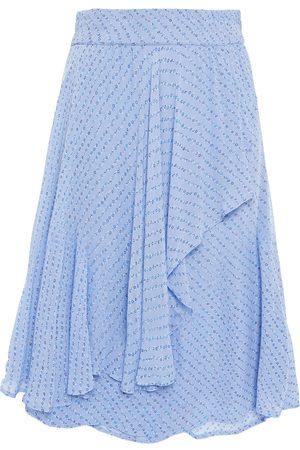 Ganni Woman Wrap-effect Printed Georgette Skirt Light Size 32