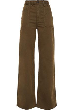 VERONICA BEARD Woman Crosbie Cotton-blend Twill Wide-leg Pants Army Size 24