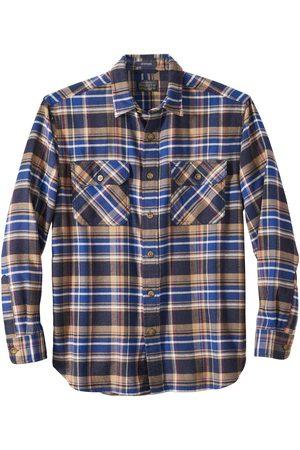 Pendleton Burnside Flannel Shirt - Navy/Blue/Red Plaid