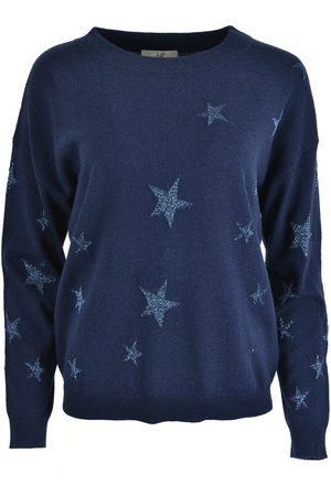 Jeff LETOILE Lurex Stars Sweater Navy