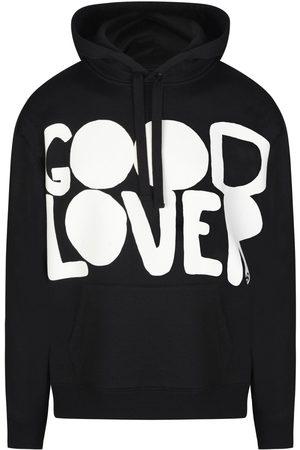 VALENTINO Hooded Cotton Sweatshirt With Good Lover Print