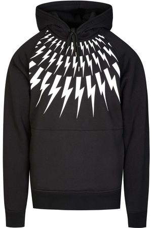 Neil Barrett Bolt Raglon Hooded Sweatshirt