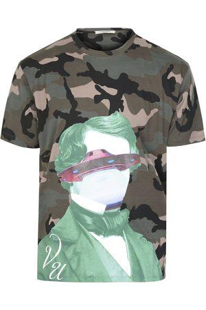 VALENTINO V Face UFO Camouflage T-shirt