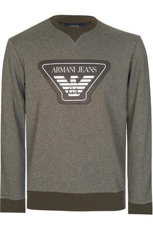 Armani Armani Jeans Chest Badge Sweatshirt Khaki
