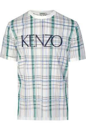 Kenzo Paris Dual Material Checked T-shirt
