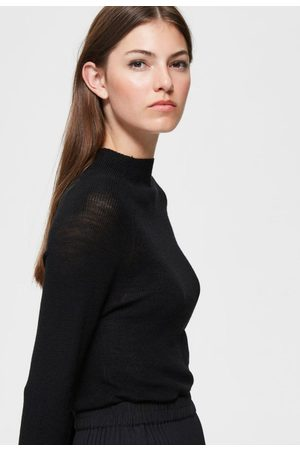 Selected Femme Clara ls knit high neck