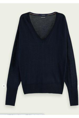 Scotch&Soda 100% Merino wool long sleeve V-neck sweater