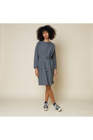FOLK CLOTHING FOLK Stack Shirt Dress NAVY MINI CHECK