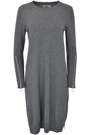 Not Shy Sweater Dress with Zip Sleeves Anthracite SERAPHINE