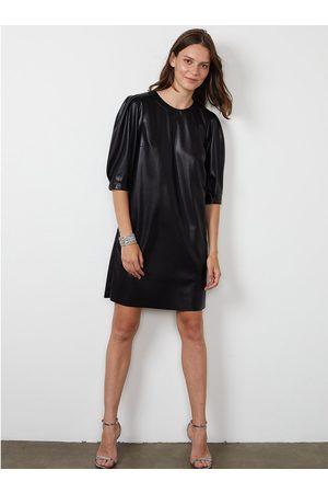 Graham and Spencer Velvet Pam Faux Leather Dress