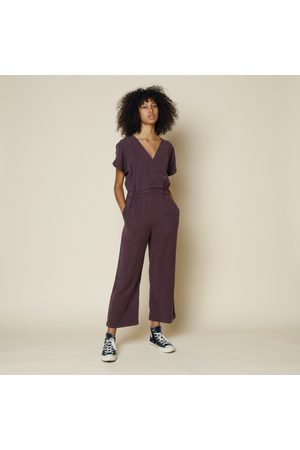 FOLK CLOTHING FOLK Wrap Tercel Jumpsuit AUBERGINE