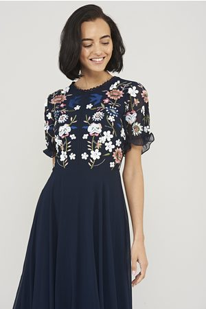 Frock and Frill Kabira Embroidered Midi Dress