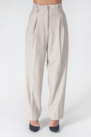 Blubianco Pantalone con pinces
