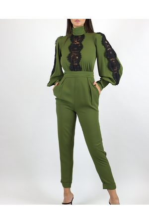 Skazi Long Sleeve Jumpsuit with Lace Detail