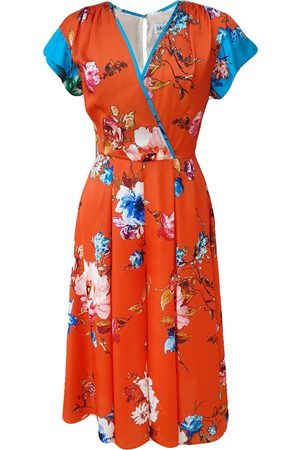 Mellaris Beverly Jumpsuit JST301 Orange Vibrant Floral Print