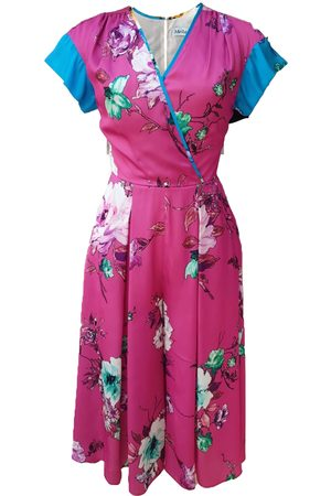 Mellaris Beverly Jumpsuit JST301 Pink Vibrant Floral Print