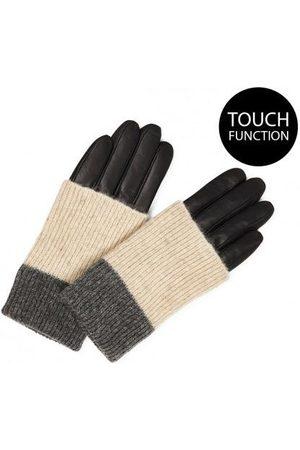 Mark Berg MarkBerg Helly Leather Gloves - Black with Grey Mix