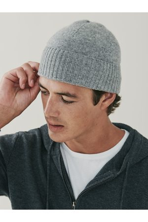 MrQuintessential Powder Cashmere Ribbed Beanie - Grey