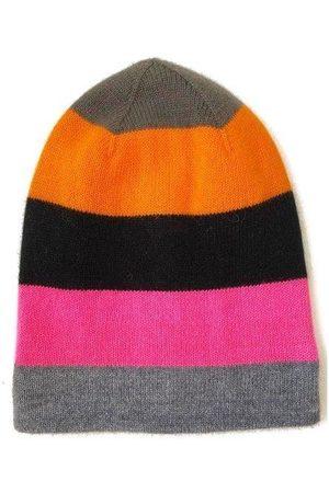 The West Village Multicoloured cashmere beanie hat