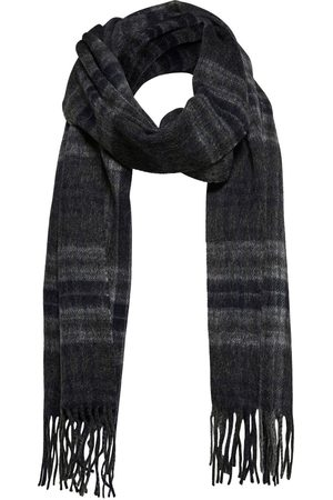 Selected Tope Check Wool Scarf